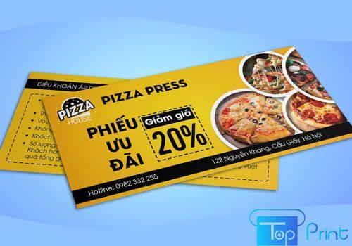 in voucher pizza giảm giá
