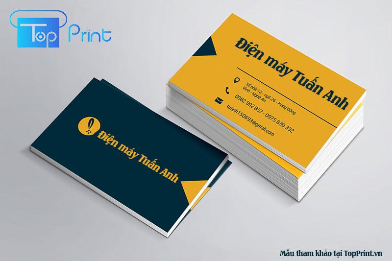 mẫu card visit, danh thiếp điện máy
