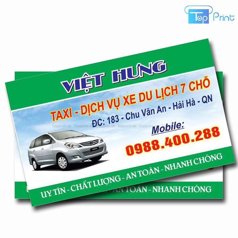 card visit taxi du lịch