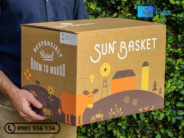 thùng carton đựng hoa quả