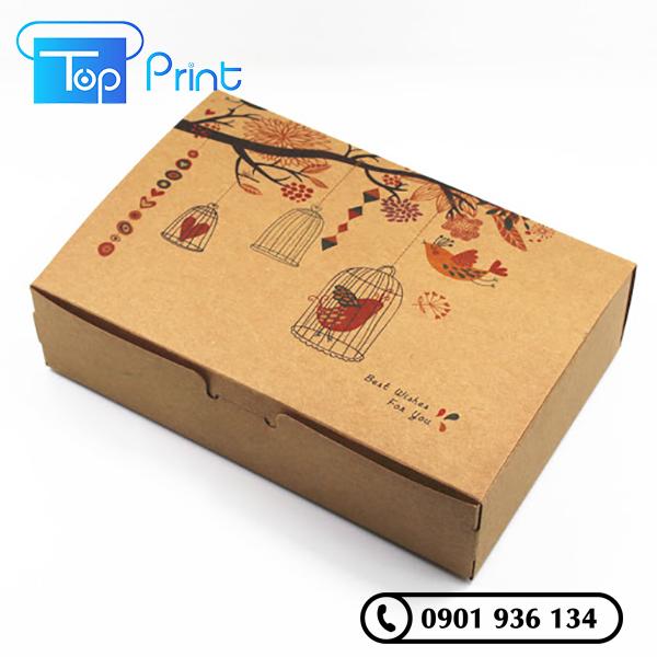 in thùng carton đựng bánh giá rẻ hcm