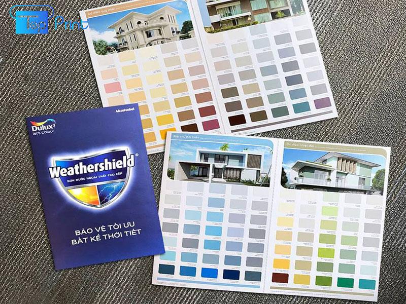 in catalogue bảng màu sơn
